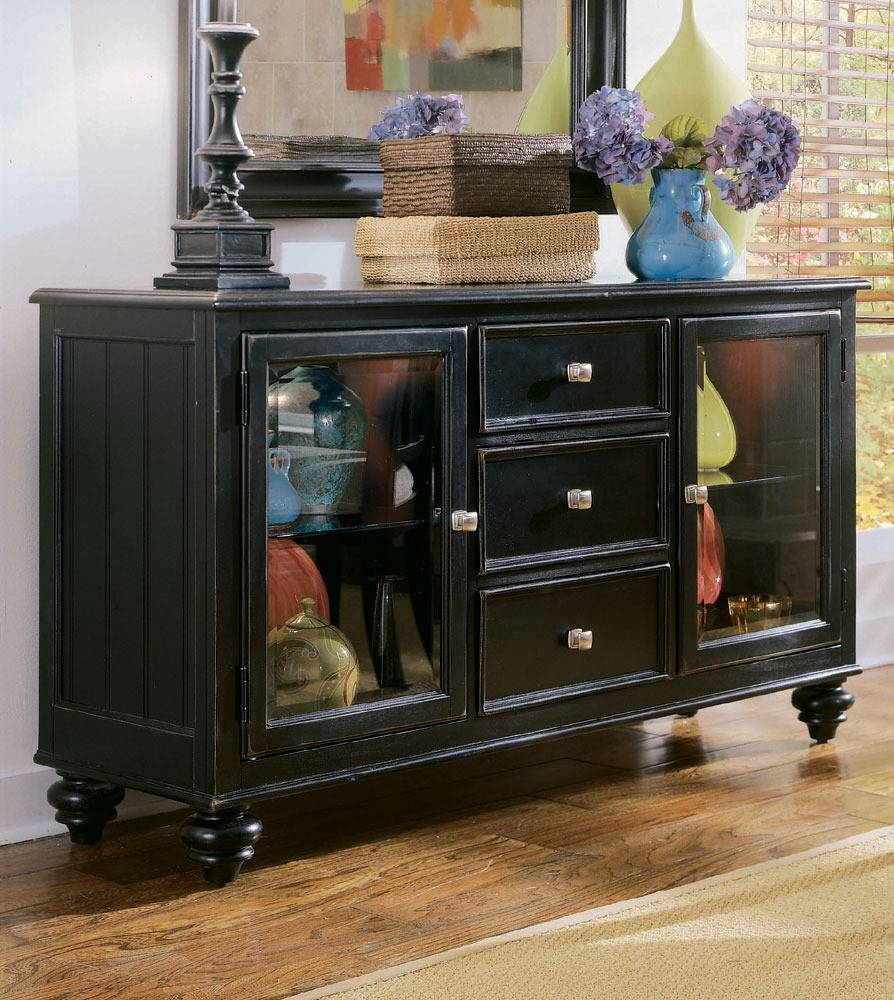 Sideboards. Glamorous Black Credenza Buffet: Black-Credenza-Buffet inside Credenza Buffet Sideboards (Image 14 of 15)