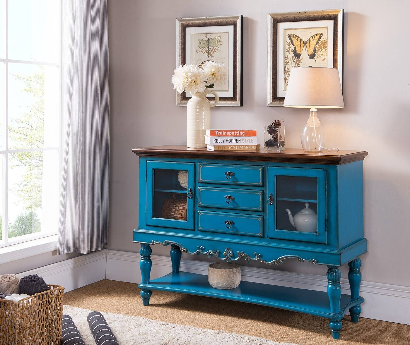 Sideboards. Inspiring Turquoise Sideboard: Http://www intended for Blue Sideboards (Image 11 of 15)