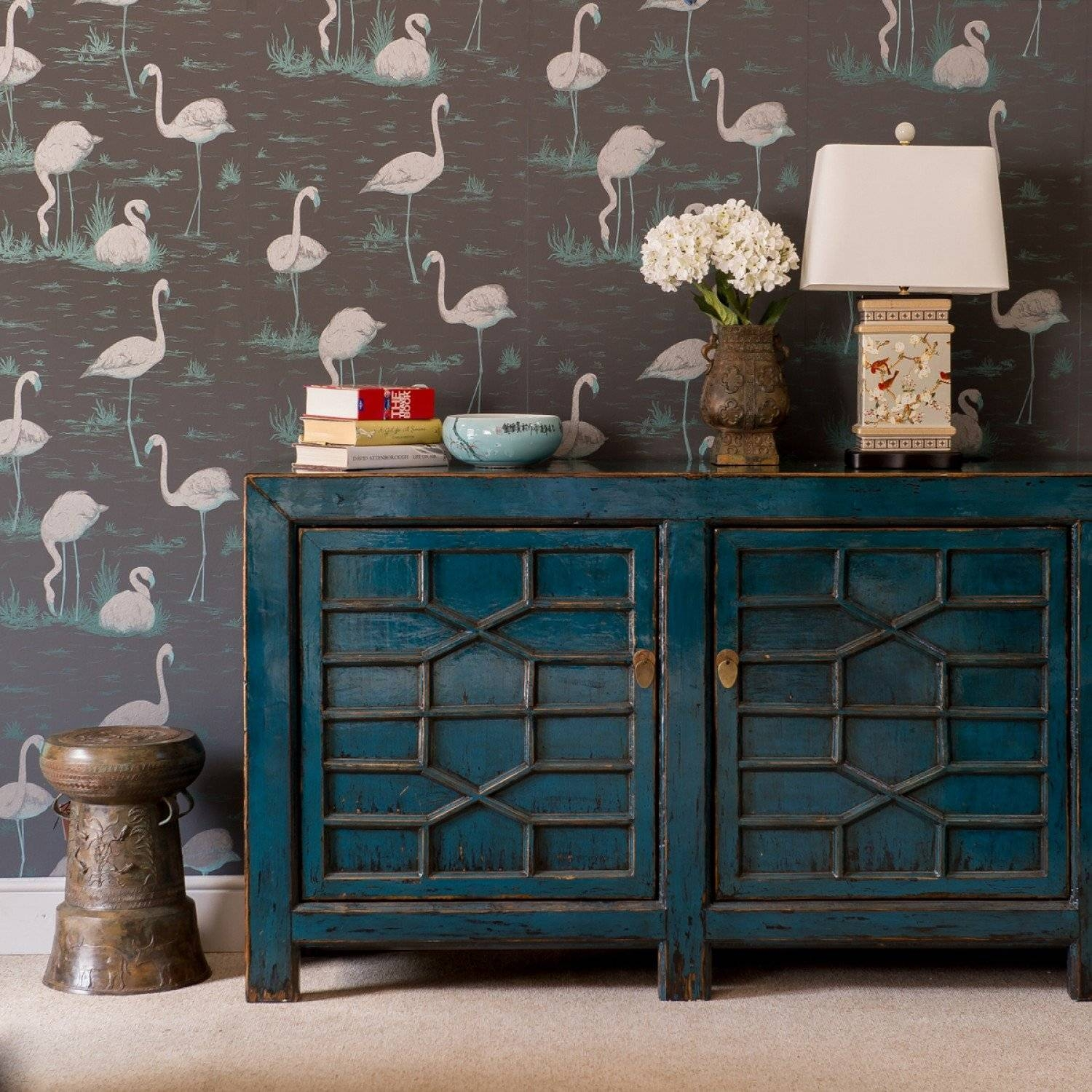 Sideboards: Inspiring Turquoise Sideboard Navy Blue Buffet, Blue pertaining to Blue Sideboards (Image 15 of 15)