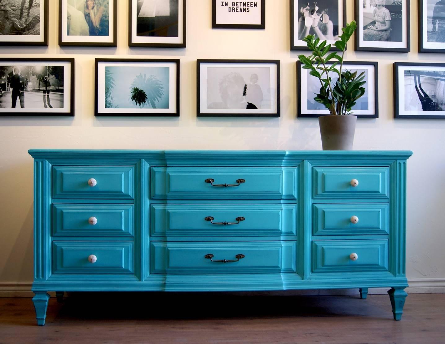 Sideboards. Inspiring Turquoise Sideboard: Turquoise-Sideboard within Blue Sideboards (Image 13 of 15)