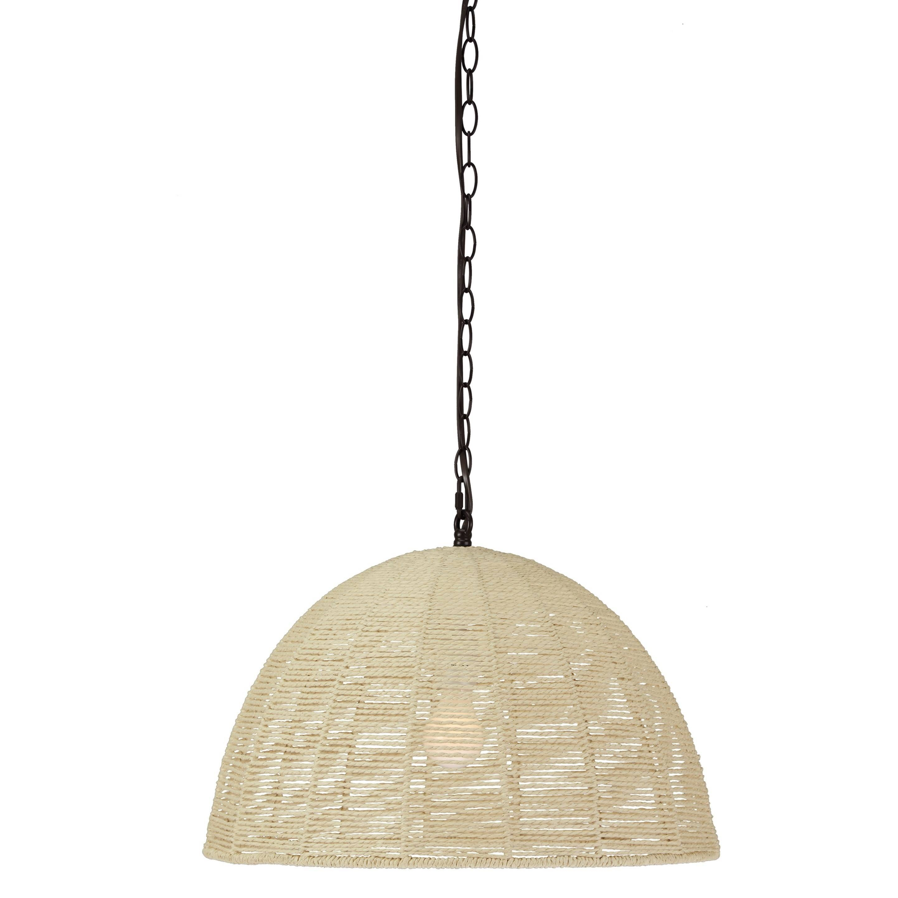 Signature Designashley Pendant Lights Jovan Paper Rope Natural throughout Natural Pendant Lights (Image 13 of 15)