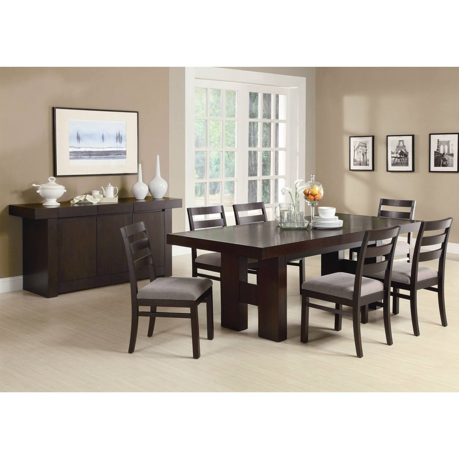 Smartly Cappuccino Also Retail Room Sideboard Server Table Cabinet with Dining Room With Sideboards (Image 14 of 15)