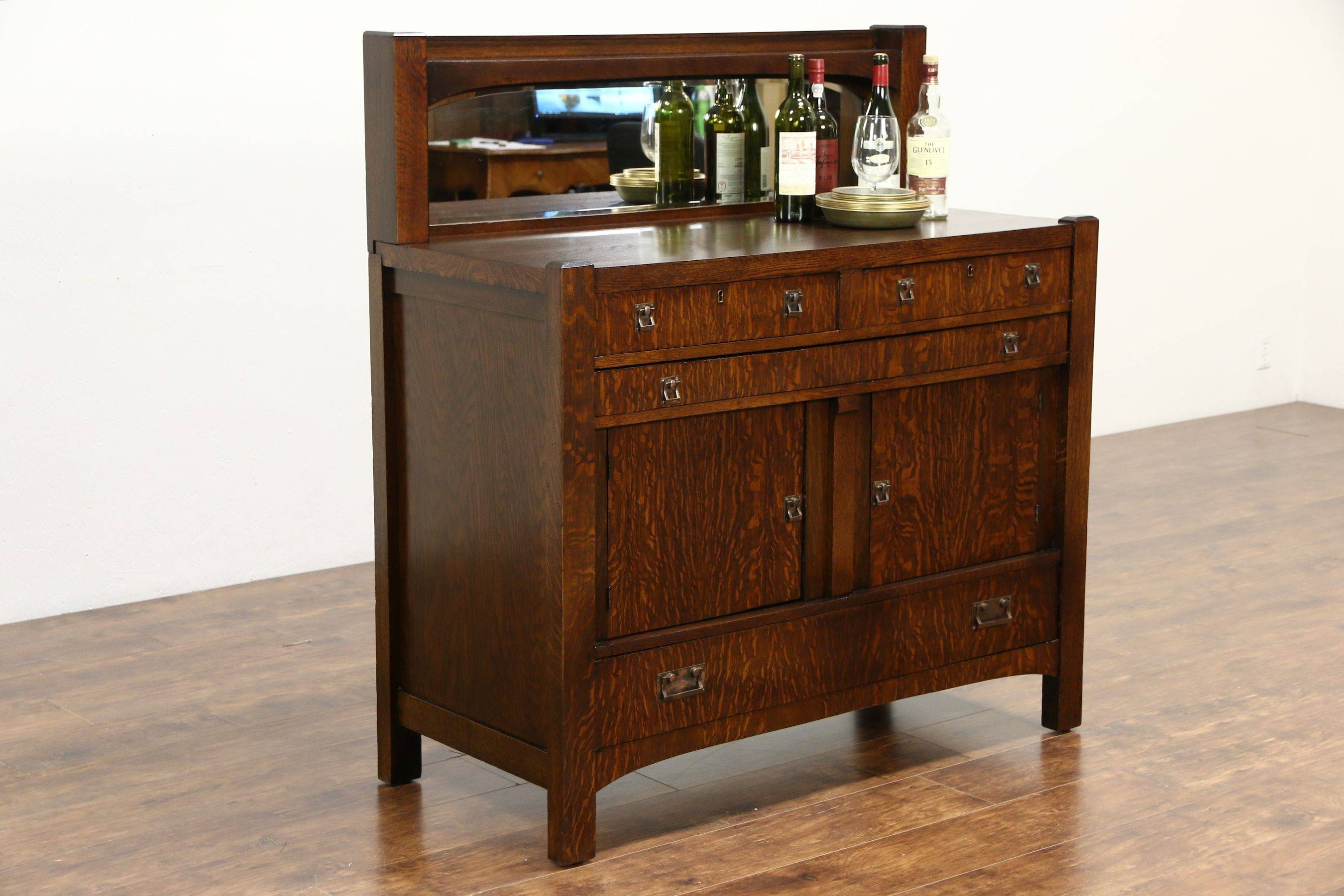 Sold - Arts & Crafts Mission Oak Antique 1905 Craftsman Sideboard intended for Mission Sideboards (Image 13 of 15)
