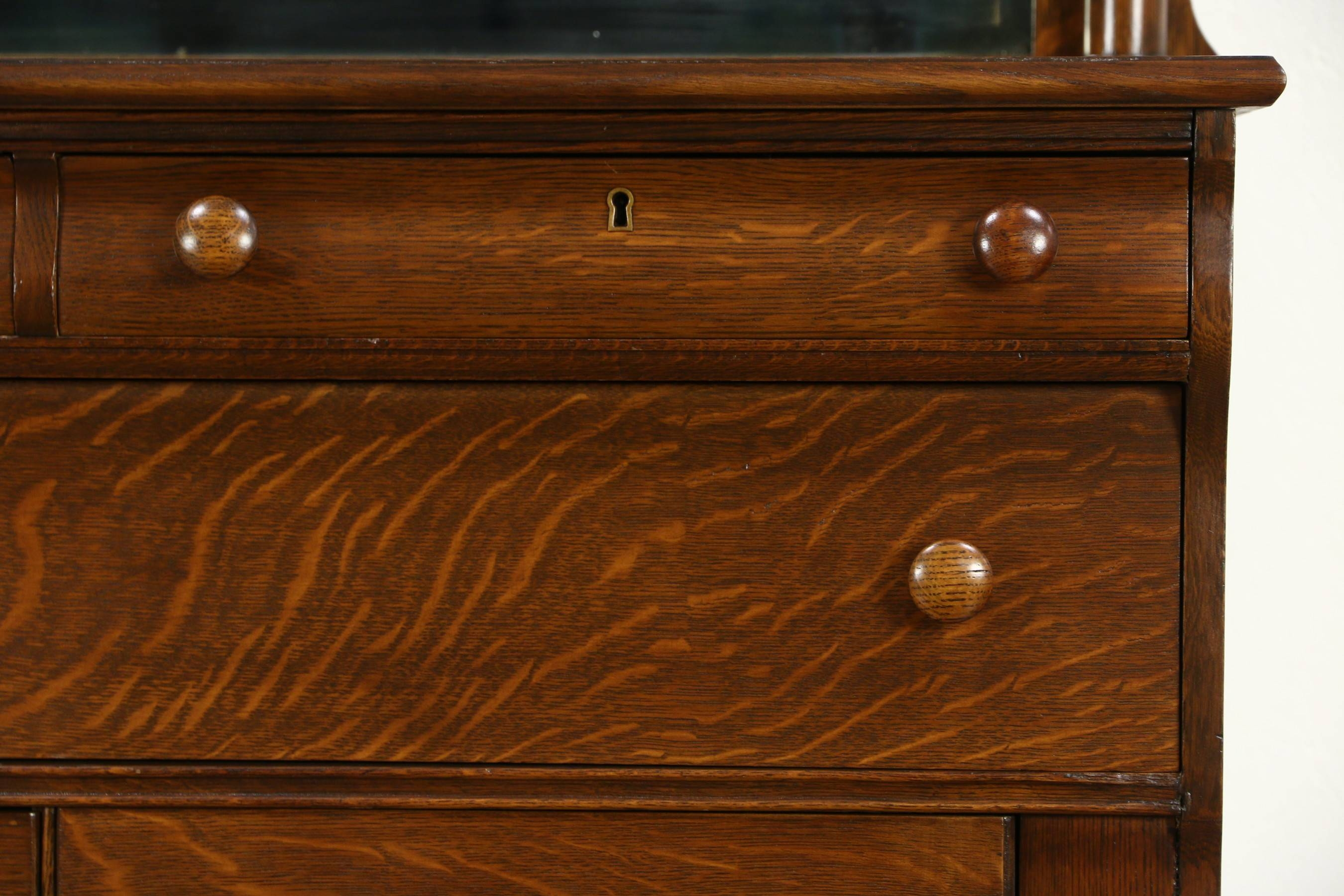 Sold - Empire 1910 Antique Oak Sideboard, Server Or Buffet, Lion for Antique Oak Sideboards (Image 11 of 15)