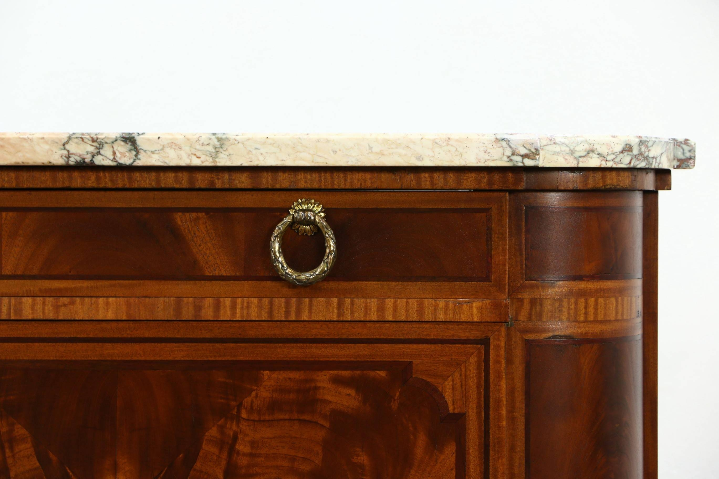 Sold - Marble Top Paris France Signed 1930 Vintage Sideboard for Antique Marble Top Sideboards (Image 12 of 15)