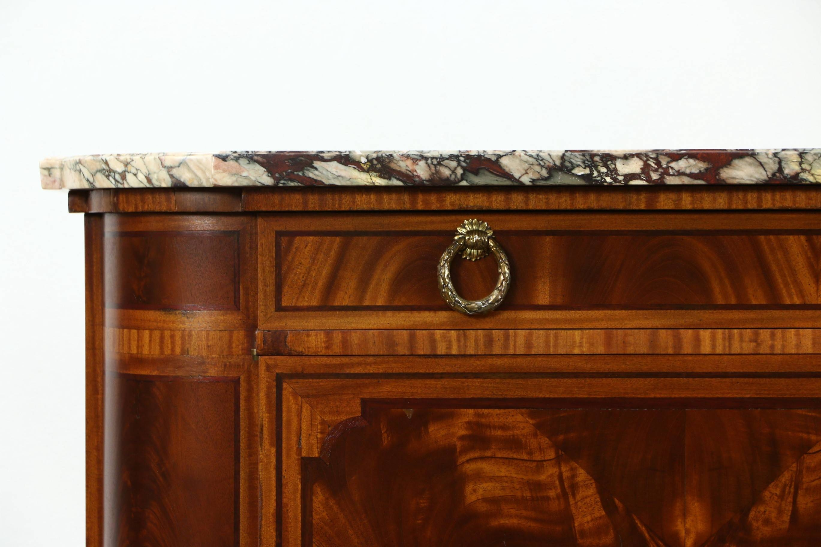 Sold – Marble Top Paris France Signed 1930 Vintage Sideboard Inside Sideboards With Marble Tops (View 12 of 15)