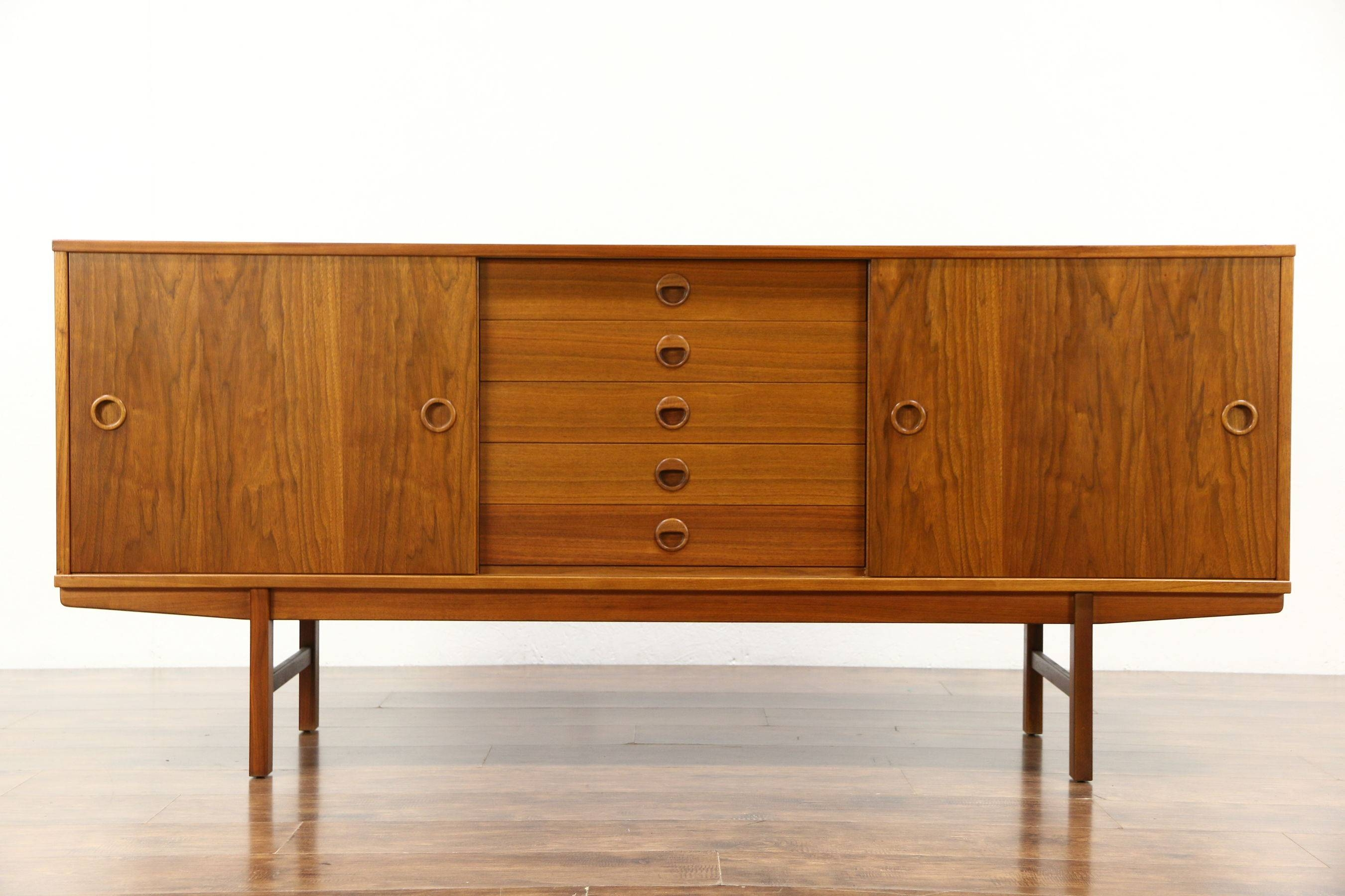 Sold - Midcentury Modern 1960's Teak Credenza, Sideboard, Tv for Credenza Sideboards (Image 15 of 15)