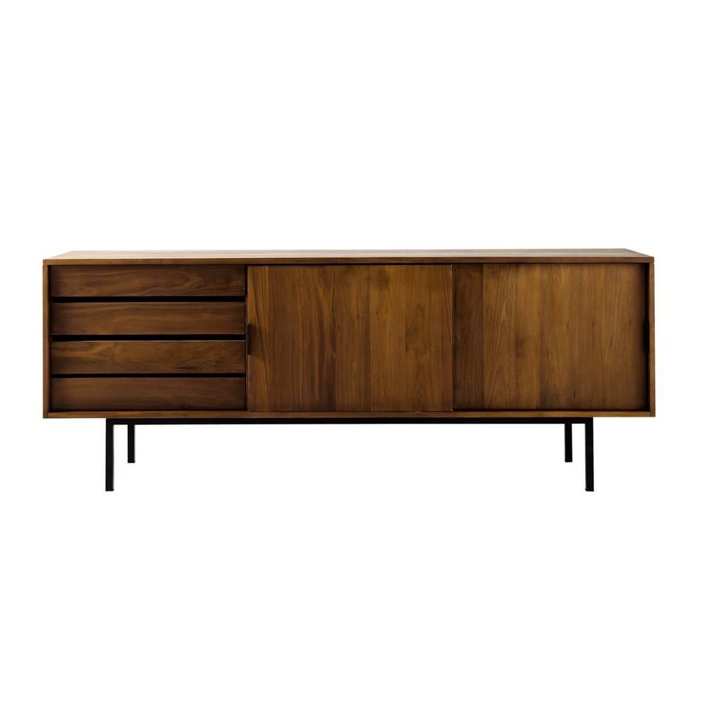 Solid Walnut Sideboard W 200cm | Maisons Du Monde With Walnut Sideboards (View 13 of 15)