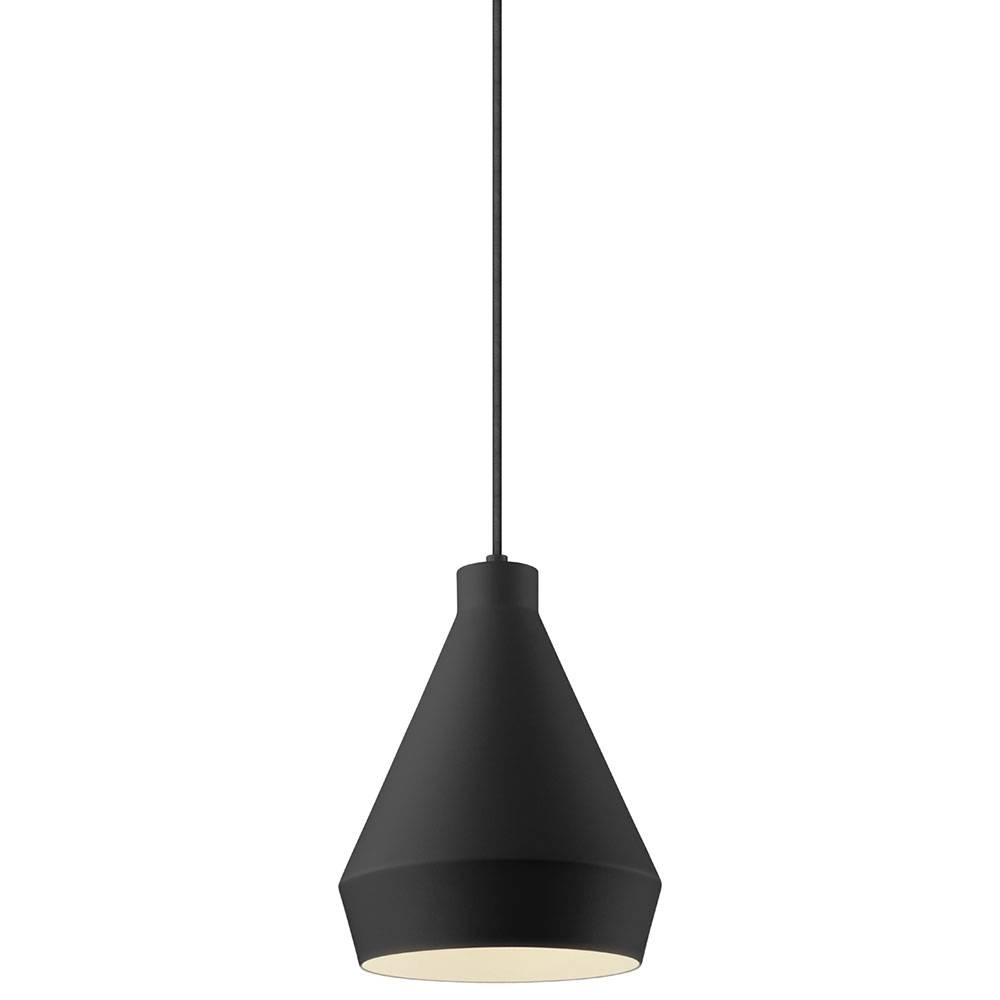 Sonneman 2750.25 Koma Modern Satin Black Led Mini Pendant Lighting within Black Mini Pendant Lights (Image 13 of 15)