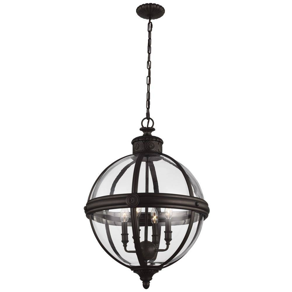 Stained Glass Beautiful Oil Rubbed Bronze Pendant Lights Inside Bronze Globe Pendant Lights (View 6 of 15)