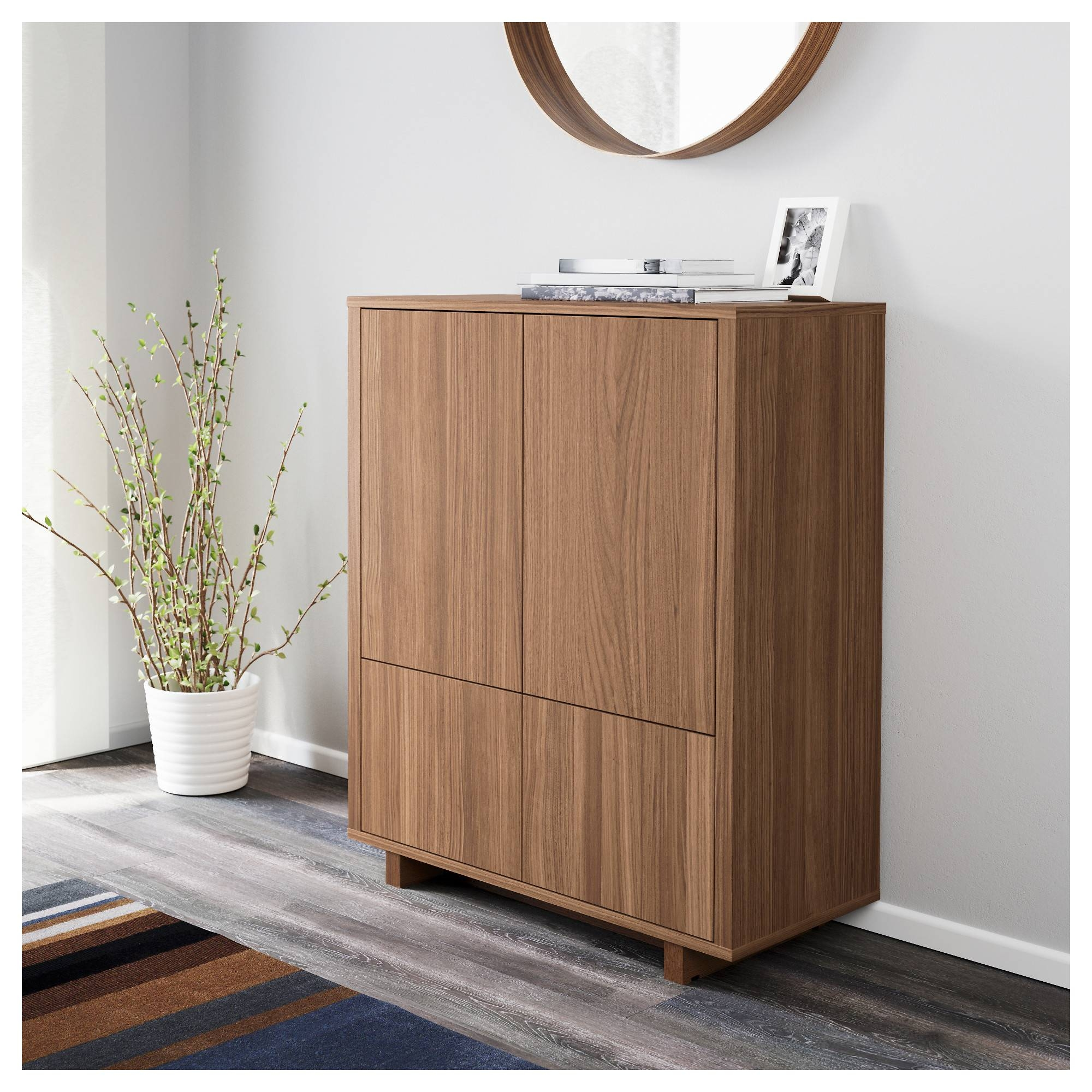 Stockholm Cabinet With 2 Drawers Walnut Veneer 90X107 Cm - Ikea inside Ikea Stockholm Sideboards (Image 13 of 15)