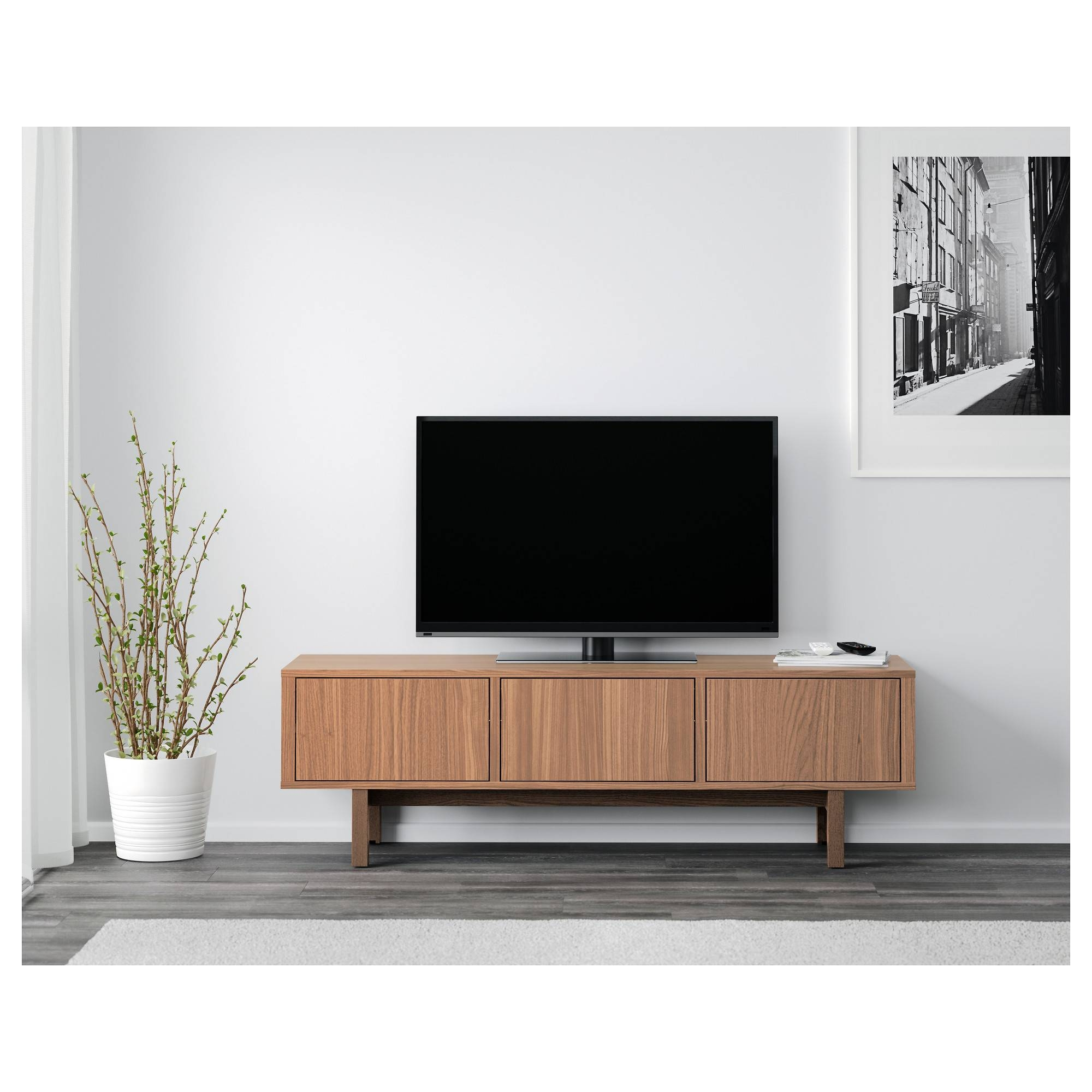 Stockholm Tv Bench Walnut Veneer 160X40 Cm - Ikea pertaining to Ikea Stockholm Sideboards (Image 15 of 15)