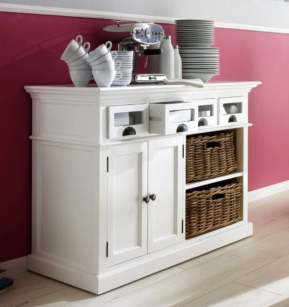Stockholm White Painted Mahogany Furniture Buffet Sideboard With With White Buffet Sideboards (View 13 of 15)