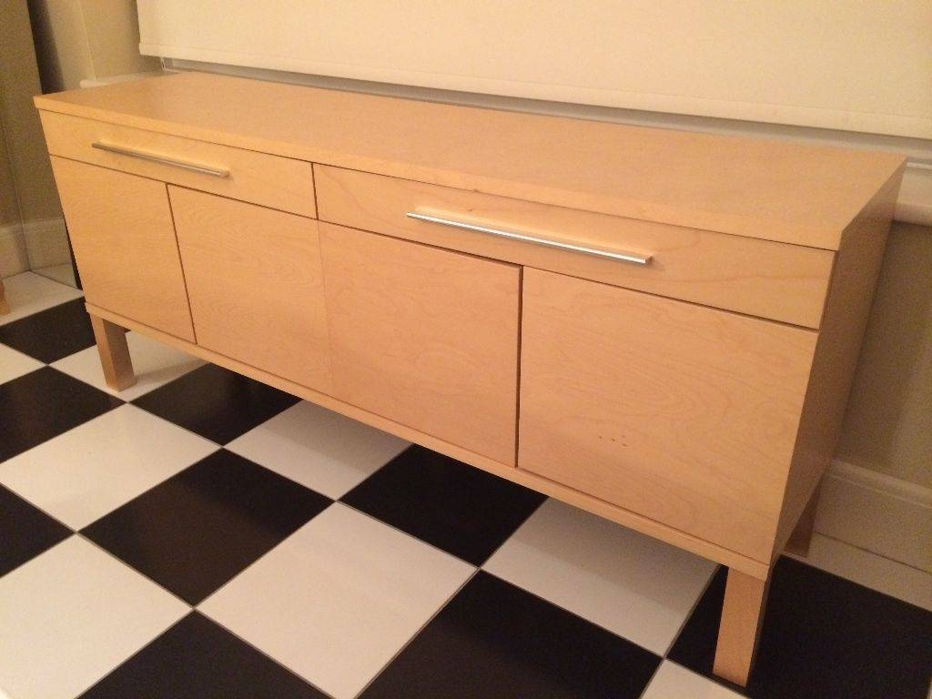 Stylish Ikea Bjursta Sideboard, Birch Veneer, In Perfect Condition intended for Ikea Bjursta Sideboards (Image 13 of 15)