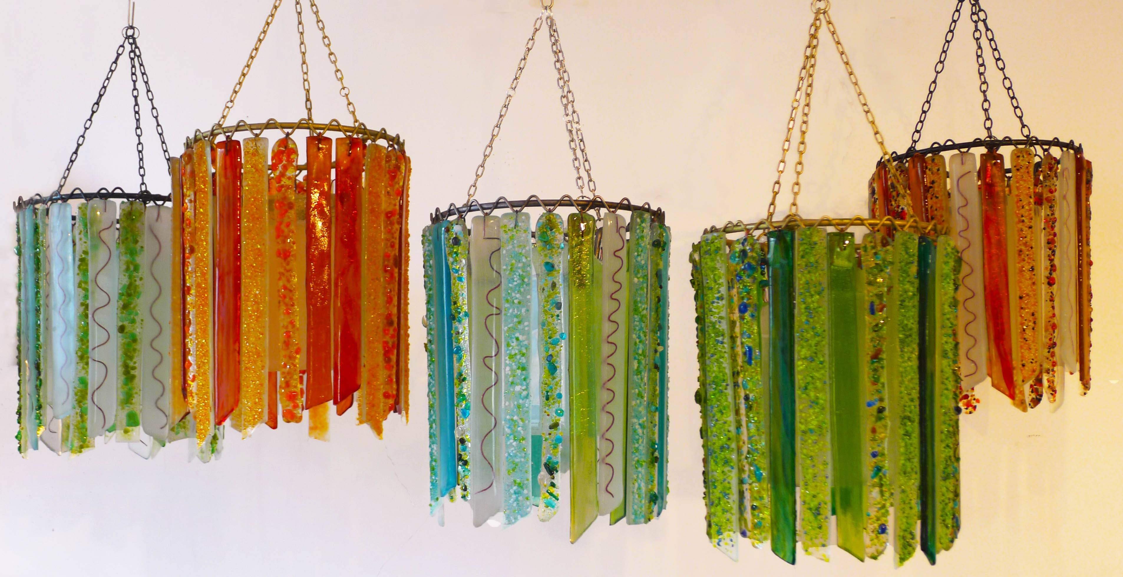 Summer Lovin' – Lovers Lights – Recycled Glass Chandeliers And Lamps In Recycled Pendant Lights (View 3 of 15)