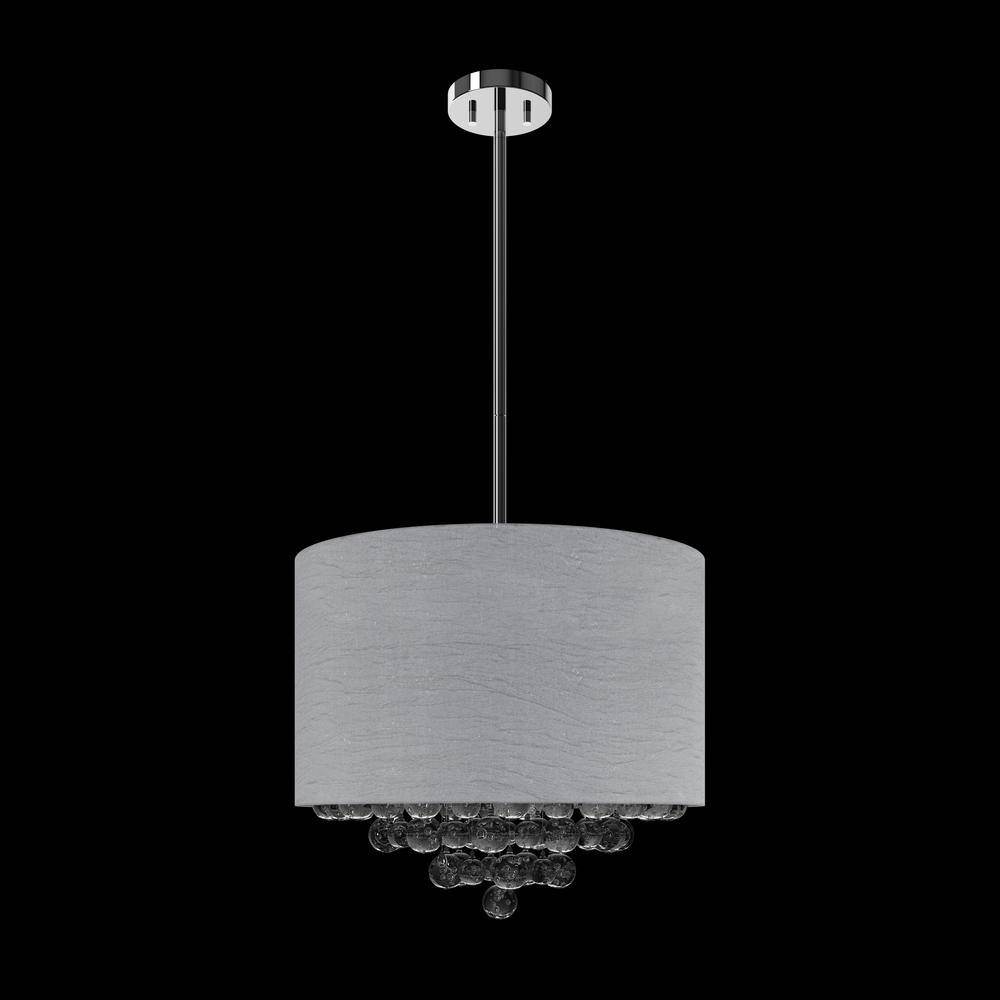 Suspended Light Fixture With Glass Bubble Pendants (round Intended For Bubble Pendant Light Fixtures (View 11 of 15)