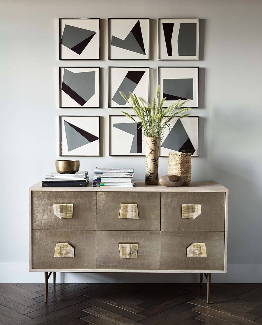 This Stunning Diy Wall Art Couldn't Be Easier - Front + Main with West Elm Sideboards (Image 12 of 15)