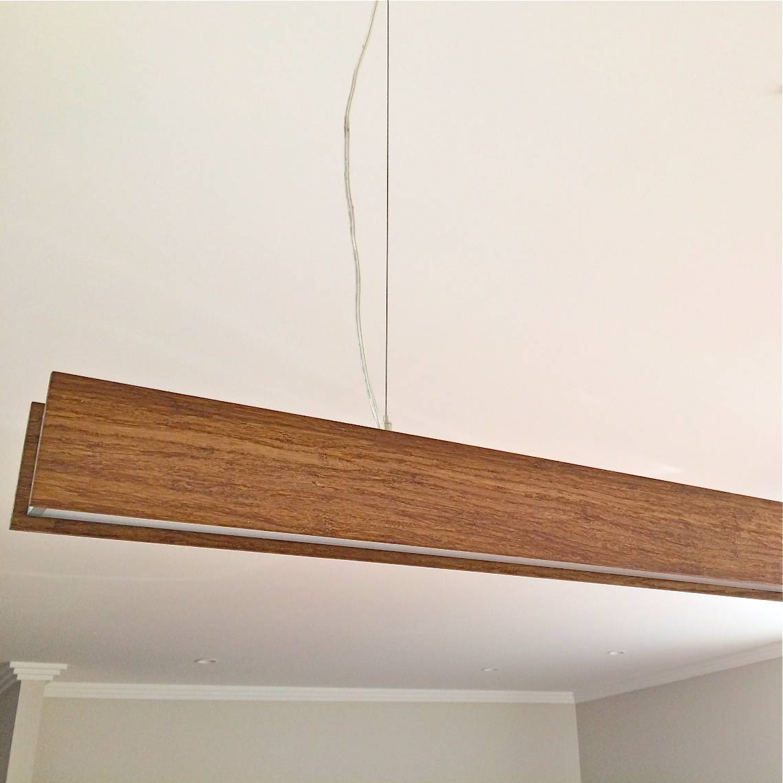 Timber Beam Pendant Light | Timber Lights Sydney Intended For Timber Pendant Lights (View 2 of 15)