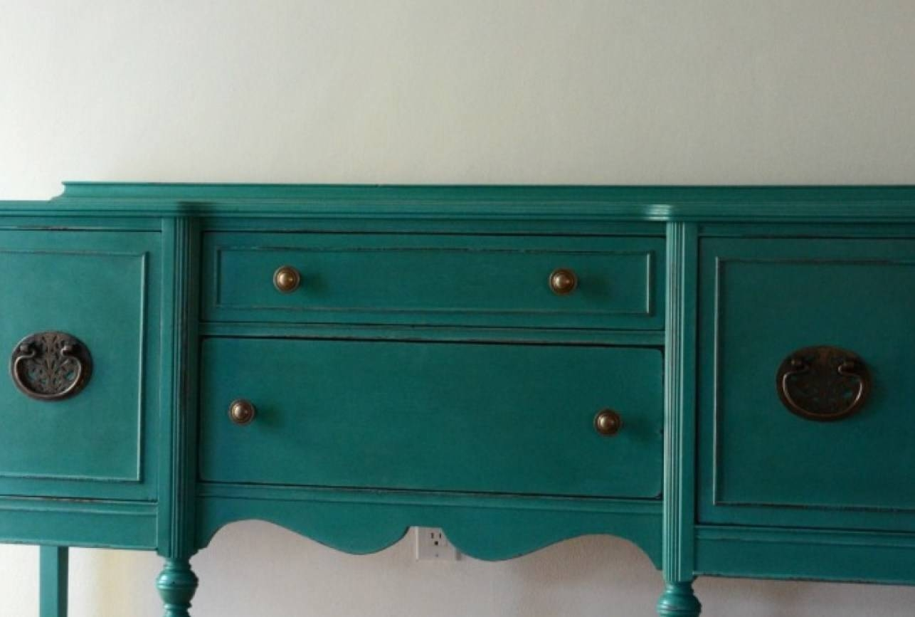 Top Distressed Servers Tags : Distressed White Sideboard In Turquoise Sideboards (View 13 of 15)