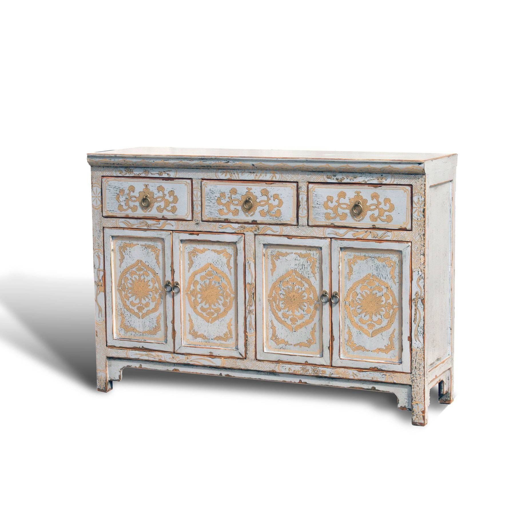 "Touch Of Exotic"" Painted Buffet - Acf China with Painted Sideboards And Buffets (Image 14 of 15)"