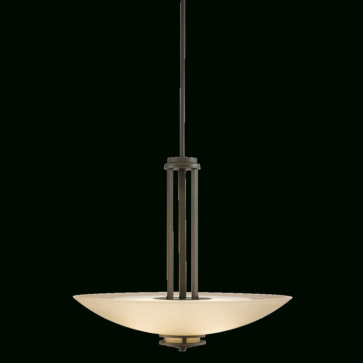 Transitional 3 Light Inverted Pendant In Olde Bronze - Hendrik inside Inverted Pendant Lighting (Image 14 of 15)