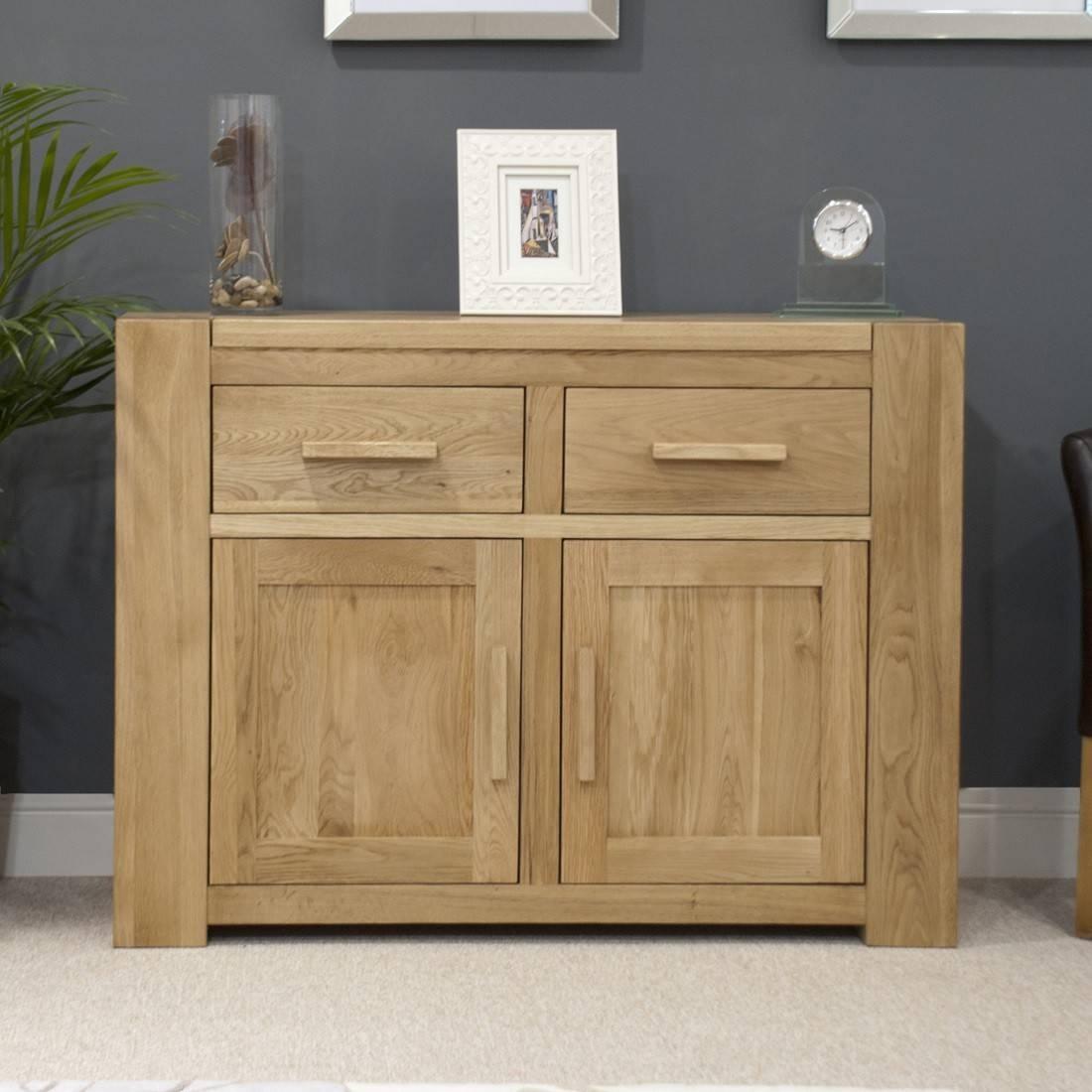 Trend Solid Oak Small 2 Door Sideboard | Oak Furniture Uk With Regard To Furniture Sideboards (View 3 of 15)