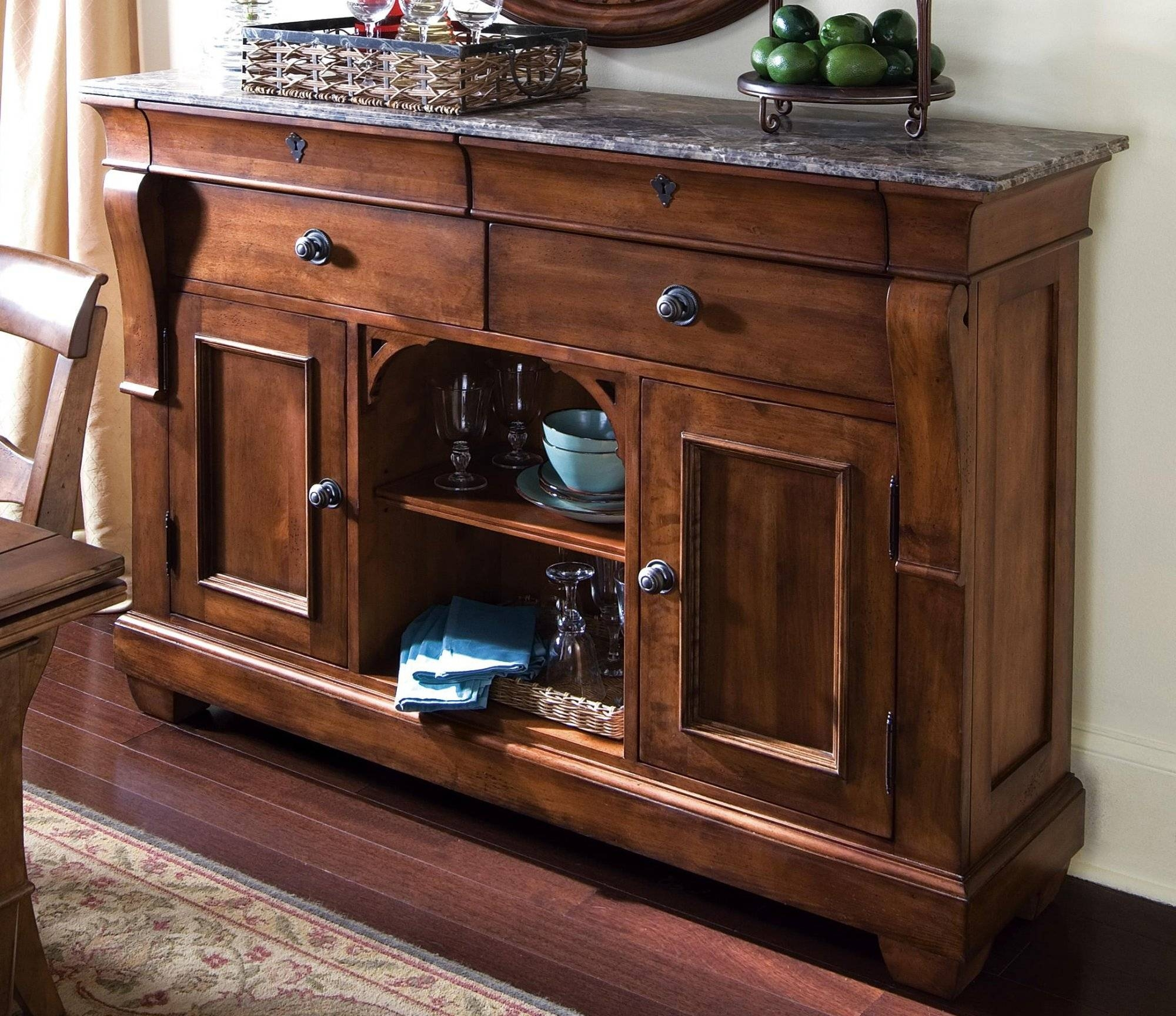 Tuscano Sideboard W/ Marble Top pertaining to Sideboards With Marble Tops (Image 13 of 15)