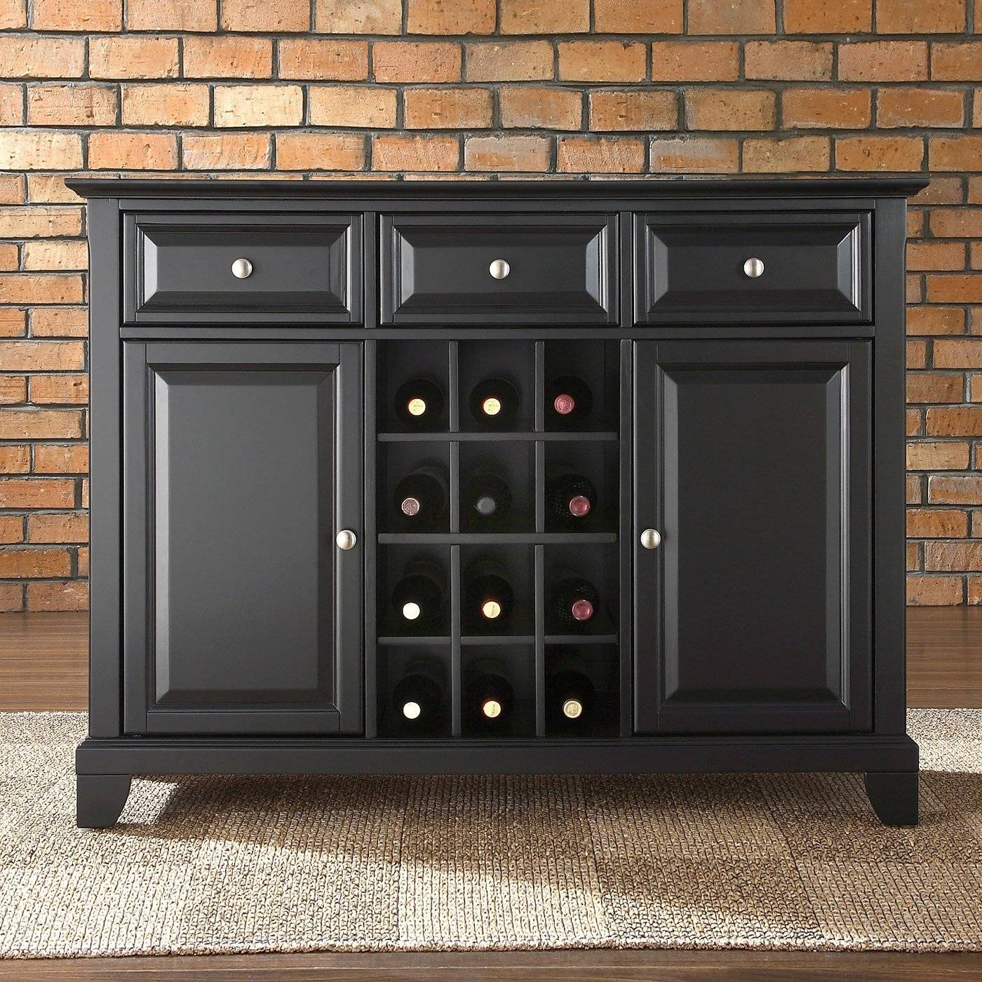 Using Old Oak Sideboard Buffet » Home Decorations Insight pertaining to Black Buffet Sideboards (Image 15 of 15)