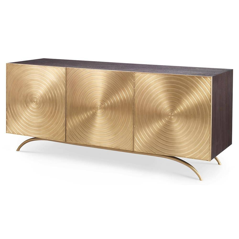 Val Modern Regency Gold Sideboard Cabinet | Kathy Kuo Home With Regard To Gold Sideboards (View 4 of 15)