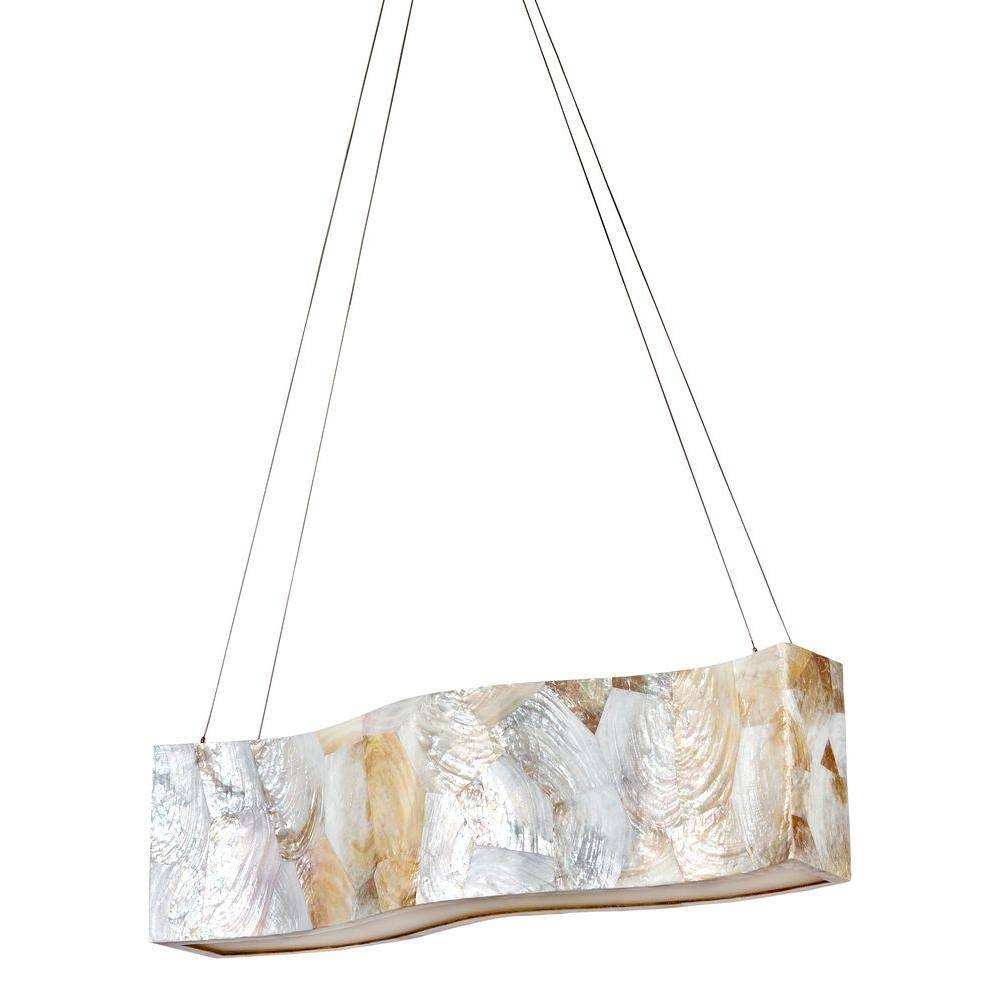 Varaluz Big 4 Light Kabebe Shell Linear Pendant 178N05A – The Home In Shell Pendant Lights (View 15 of 15)