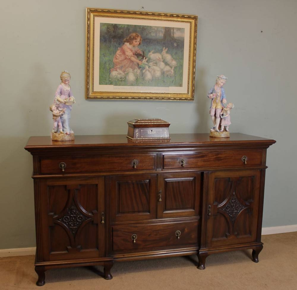 Victorian 19Th Century Mahogany Sideboard Base, | 260190 within Mahogany Sideboards (Image 15 of 15)