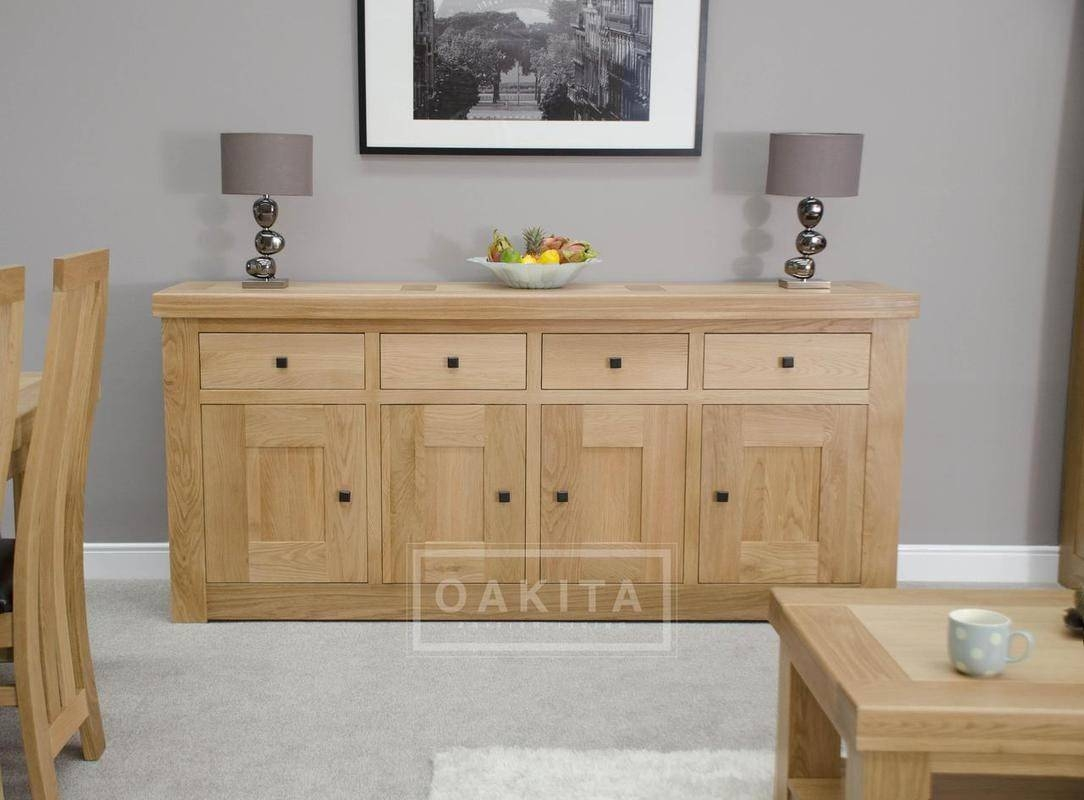 Vienna Extra Large Light Oak Sideboard - Oak Sideboards - Oak regarding Large Sideboards (Image 14 of 15)