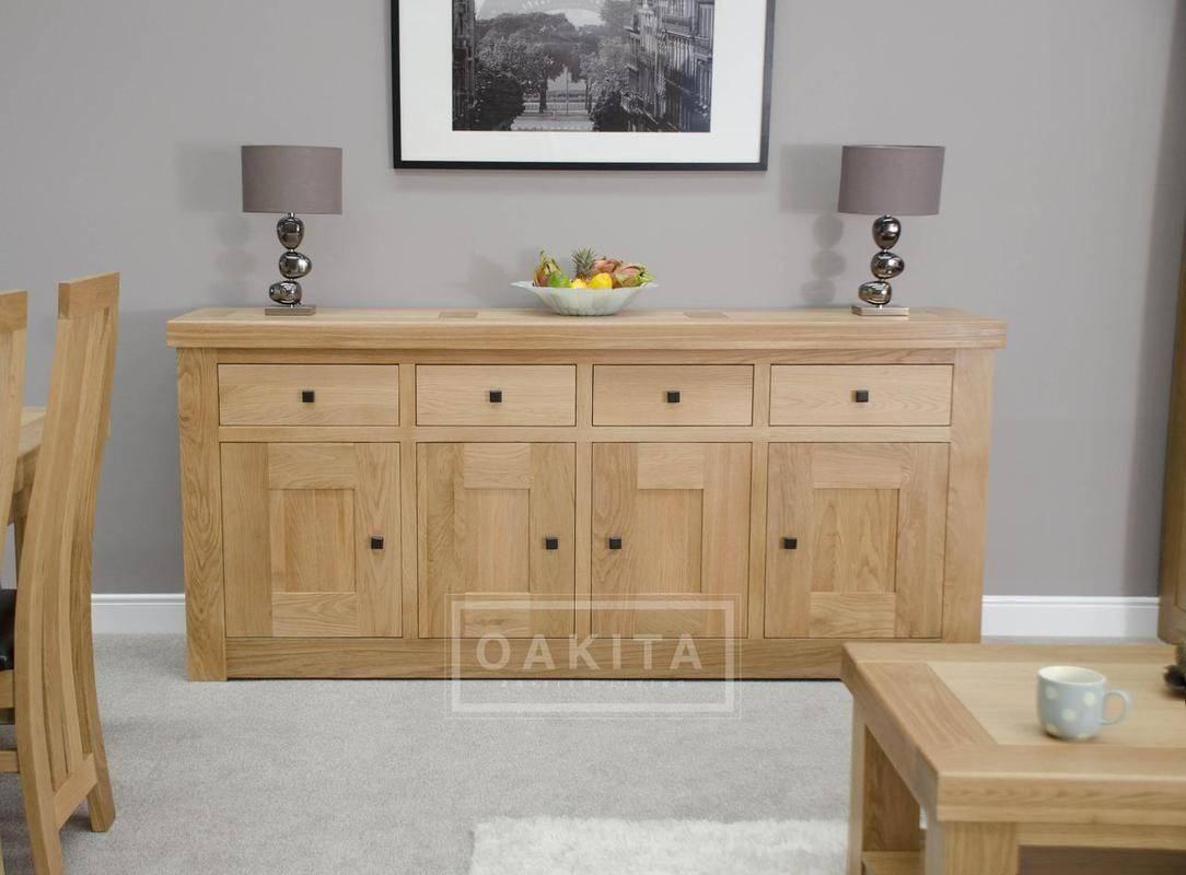 Vienna Extra Large Light Oak Sideboard – Oak Sideboards – Oak With Furniture Sideboards (View 7 of 15)