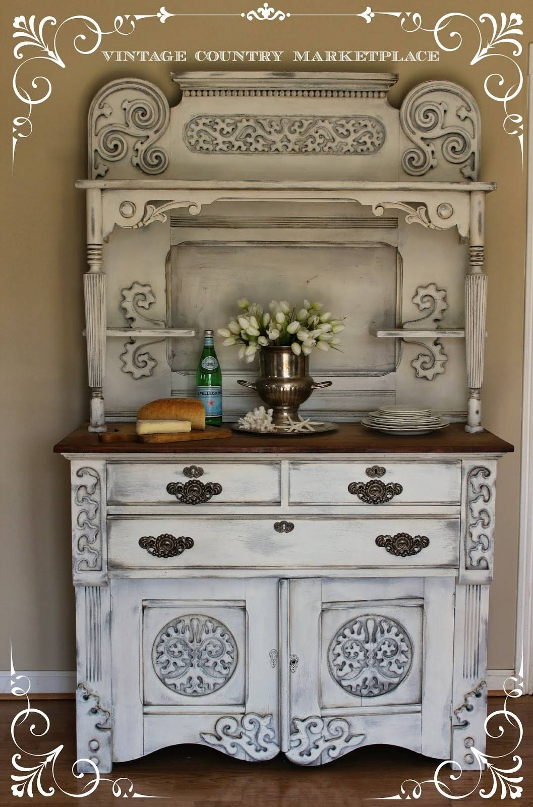 Vintage Country Style: European Sideboard Make Over Annie Sloan with Chalk Painted Sideboards (Image 15 of 15)