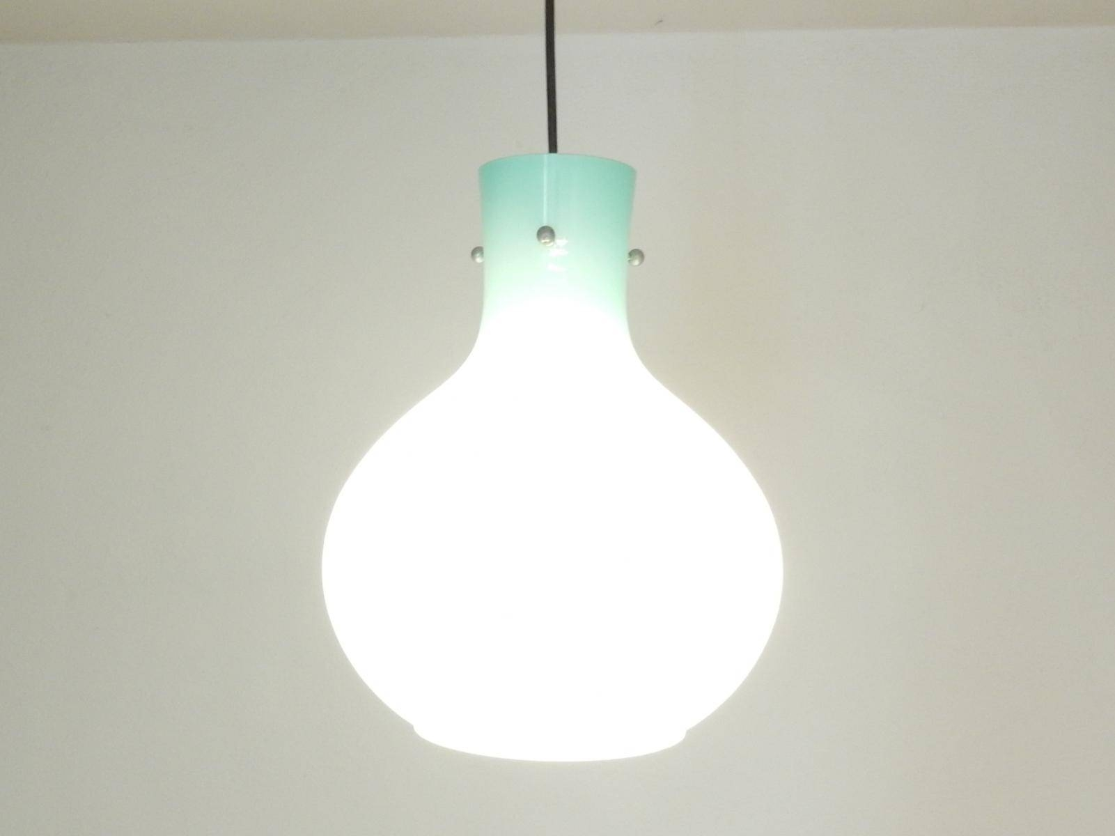 Vintage Italian Blue Glass Pendant Light For Sale At Pamono Throughout Blue Glass Pendant Lighting (View 13 of 15)