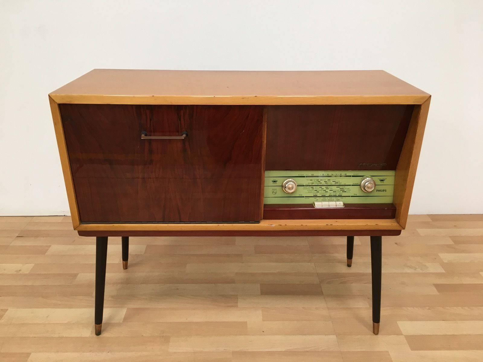 Vintage Retro Mid Century 50S 60S Philips Stereo Radiogram throughout 50S Sideboards (Image 14 of 15)