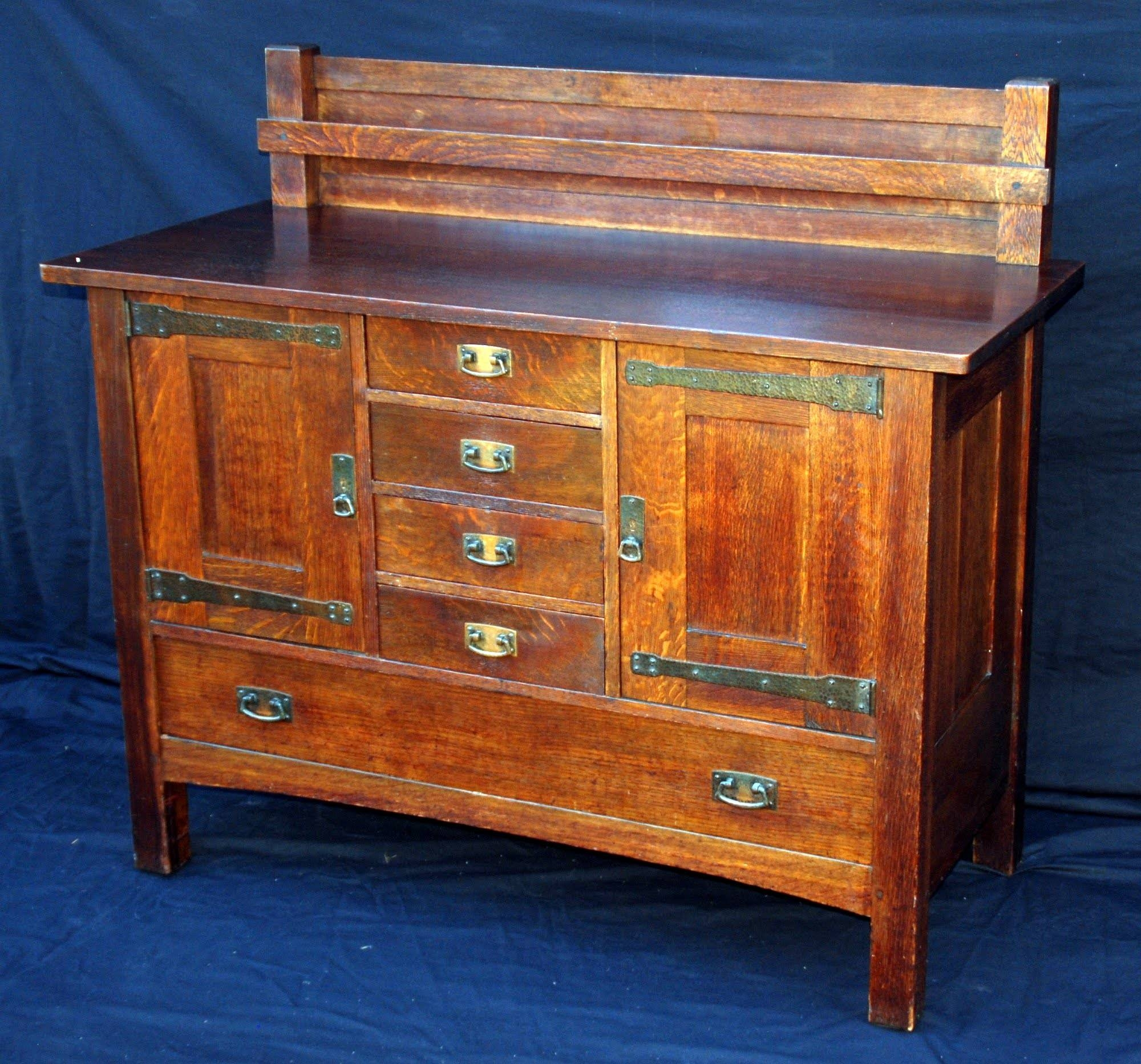 Voorhees Craftsman Mission Oak Furniture - Exceptional Original L with regard to Stickley Sideboards (Image 11 of 15)