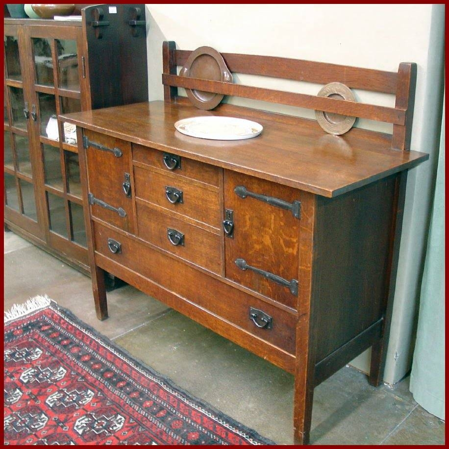 Voorhees Craftsman Mission Oak Furniture – Gustav Stickley In Stickley Sideboards (View 2 of 15)