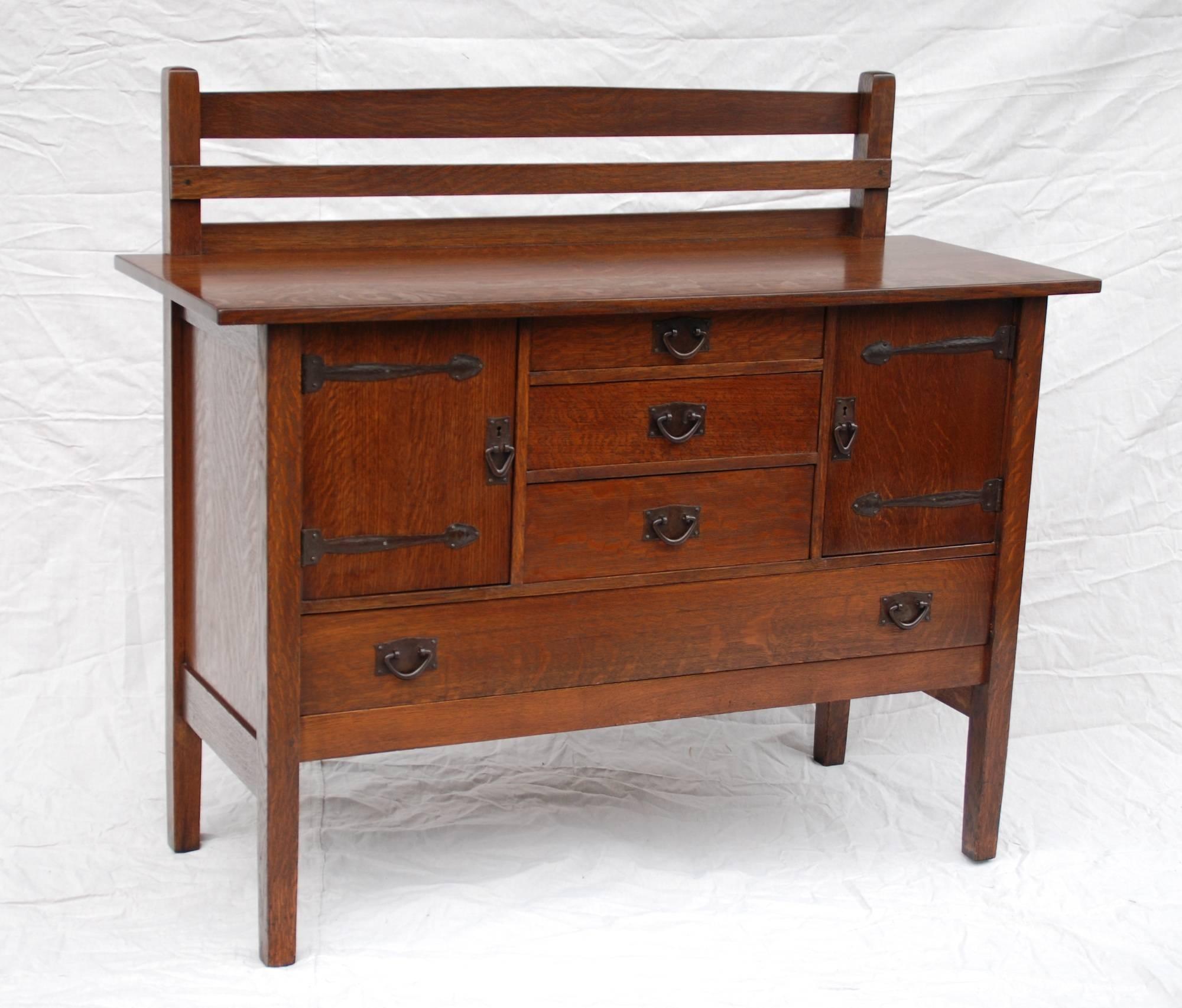 Voorhees Craftsman Mission Oak Furniture – Gustav Stickley Strap Within Stickley Sideboards (View 4 of 15)