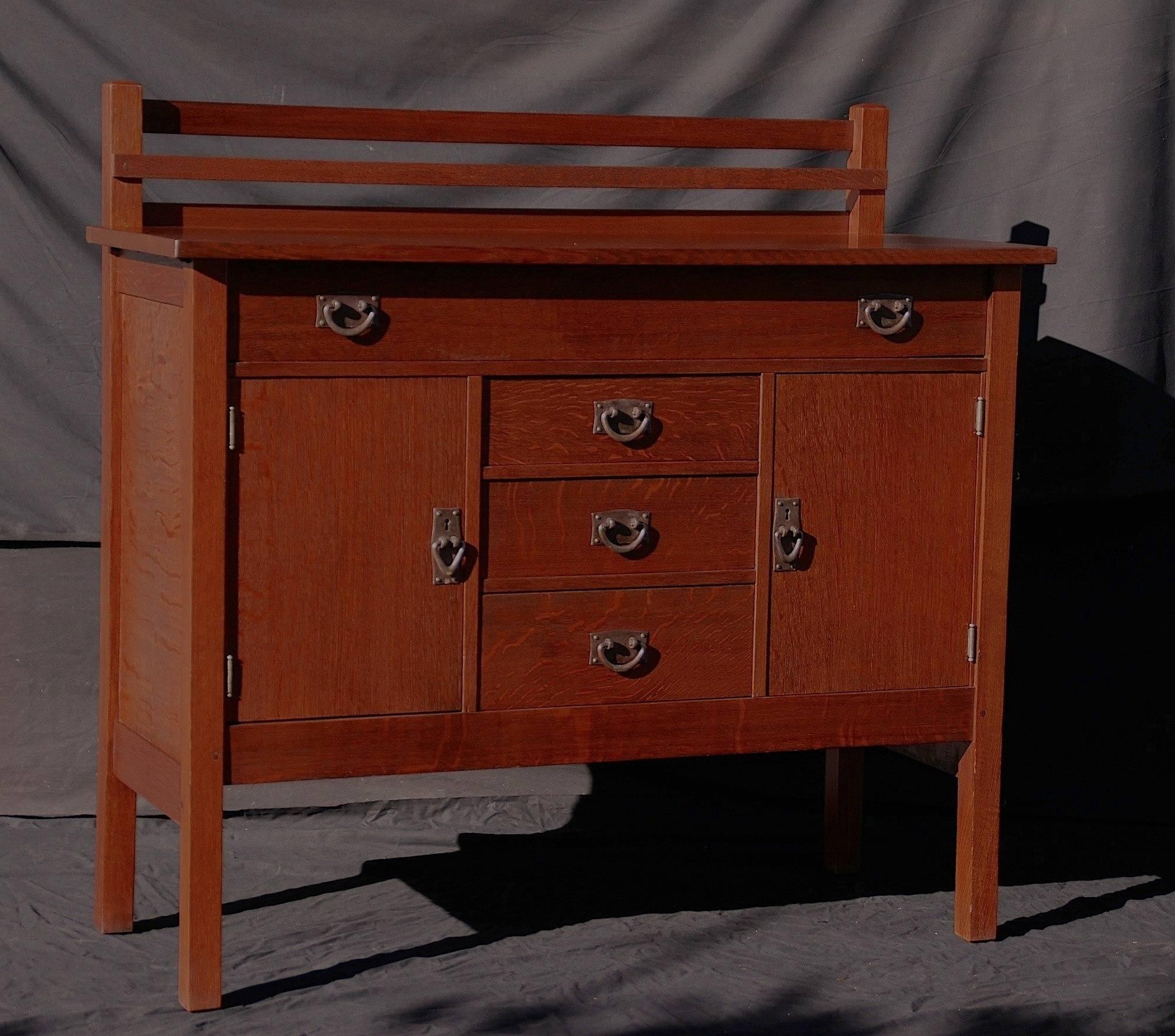 Voorhees Craftsman Mission Oak Furniture – Gustav Stickley Vintage Intended For Stickley Sideboards (View 12 of 15)