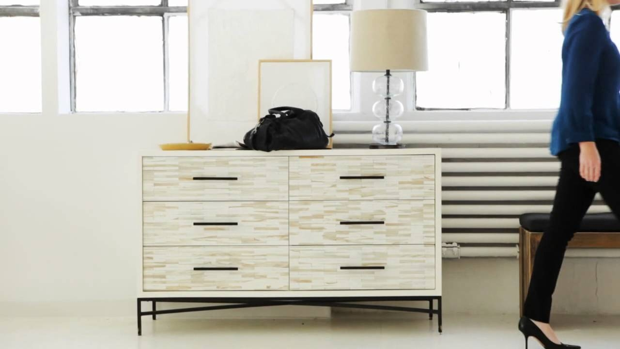 West Elm's Wood Tiled Collection Is Modern And Timeless - Youtube inside West Elm Sideboards (Image 15 of 15)