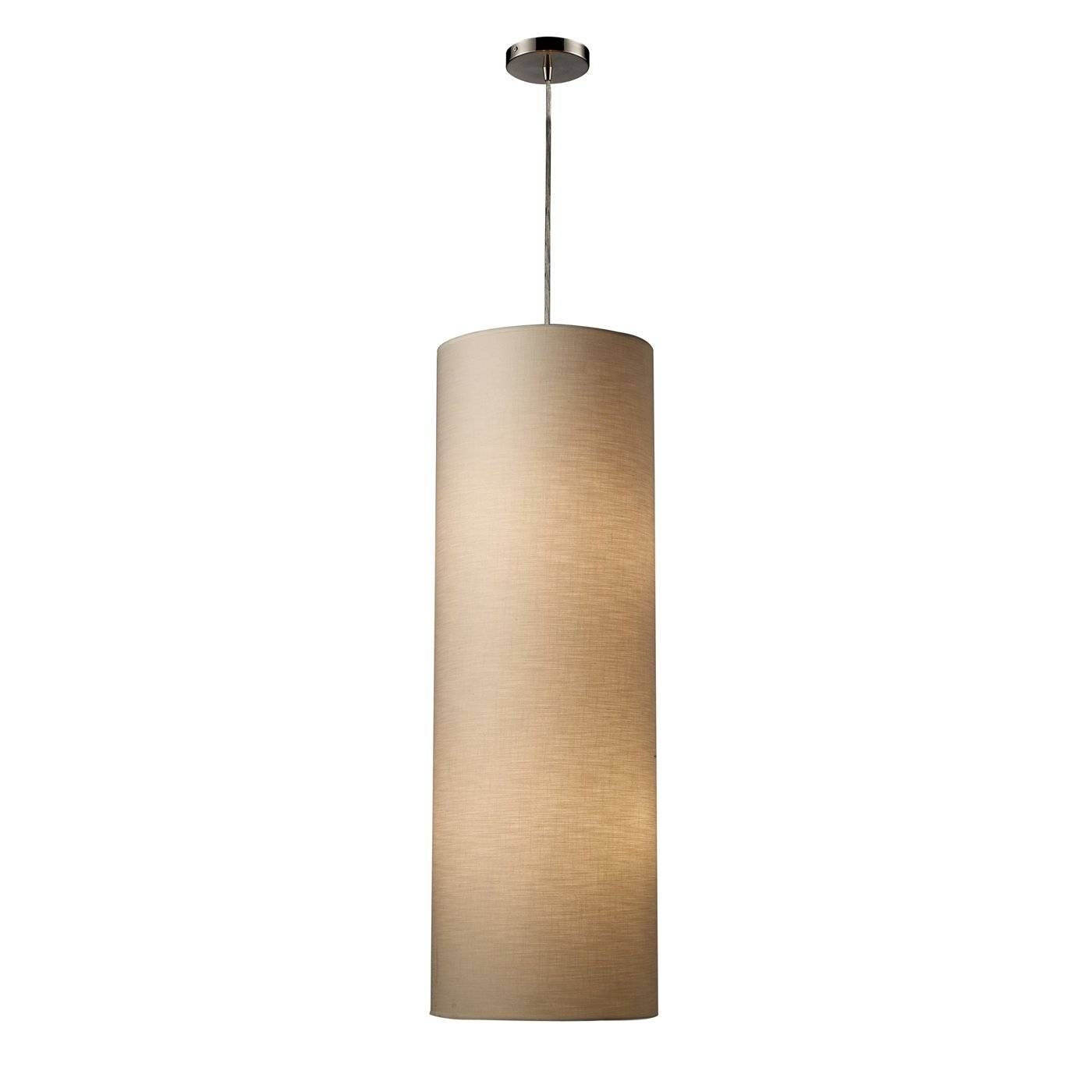Westmore Lighting 4 Light Fabric Cylinder Large Pendant | Lowe's Intended For Cylinder Pendant Lights (View 2 of 15)
