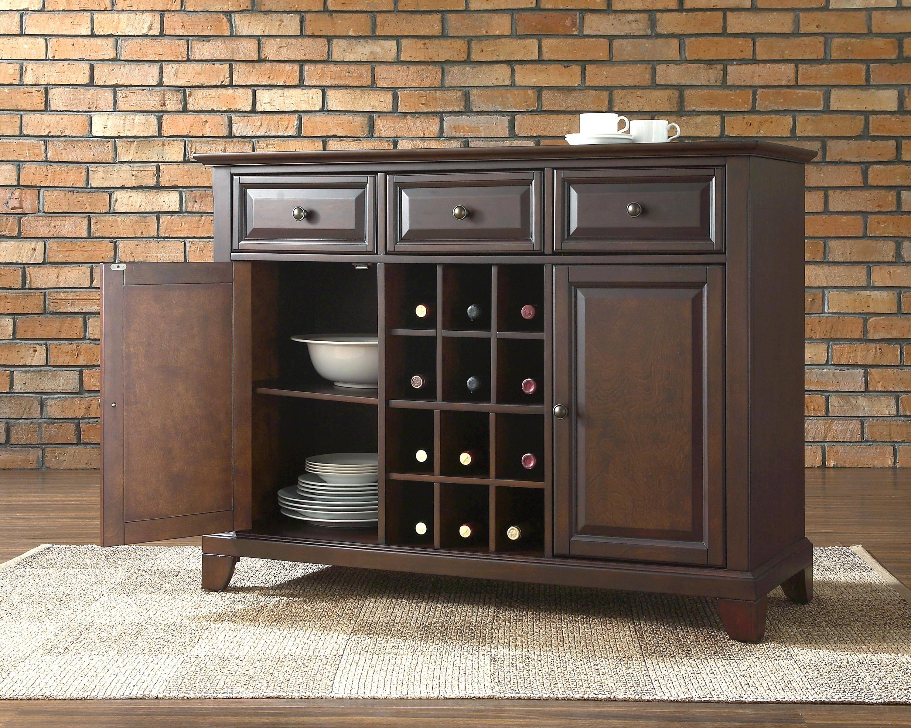 White Dining Buffet Buffet Servers And Sideboards Kitchen with regard to Black Dining Room Sideboards (Image 15 of 15)