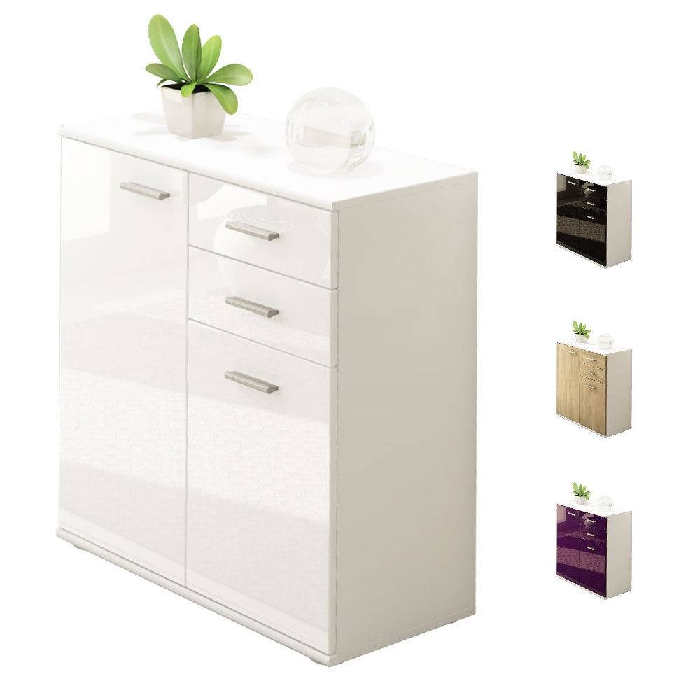 White Gloss Sideboards | Cupboards & Shelving Units | Ebay with Sideboards With Drawers (Image 15 of 15)
