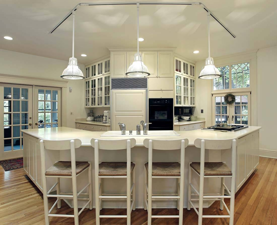 White Kitchen Island Lighting Fixtures — Home Design Ideas : How in Island Pendant Light Fixtures (Image 15 of 15)