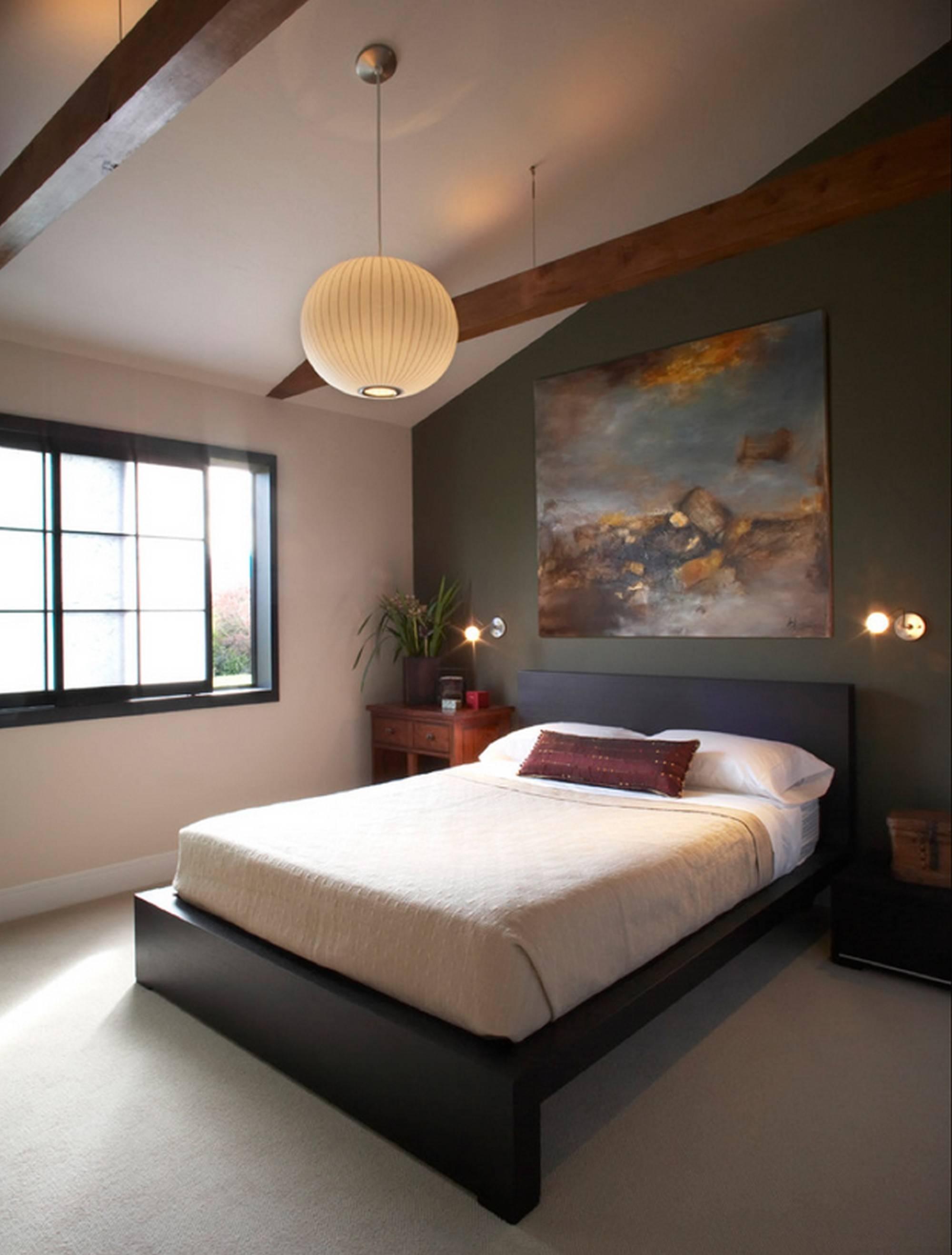 Woven Ball Pendant Light For Bedroom Design With Sloped Ceiling Inside Pendant Lights For Sloped Ceiling (View 3 of 15)