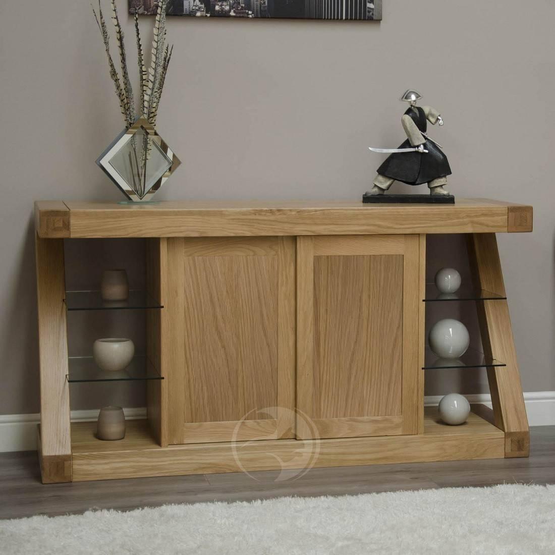 Z Shape Solid Oak Large Sideboard | Oak Furniture Uk within Large Sideboards (Image 15 of 15)