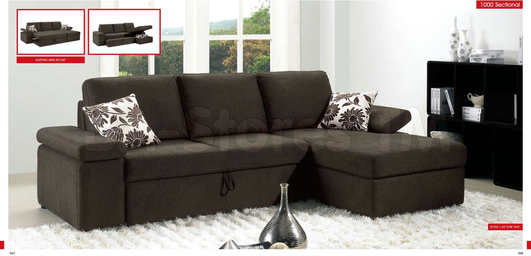 1000 Contemporary Sectional Sofa Bed – $1,700.00 : Furniture Store Pertaining To Nyc Sectional Sofas (Gallery 10 of 10)
