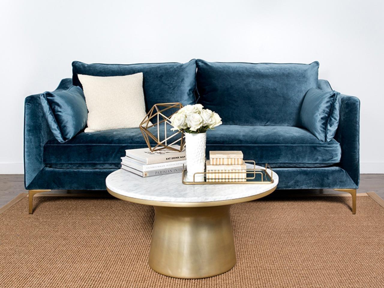 11 Of The Best Velvet Sofas To Decorate With   Hgtv's Decorating Regarding Velvet Sofas (Gallery 5 of 10)
