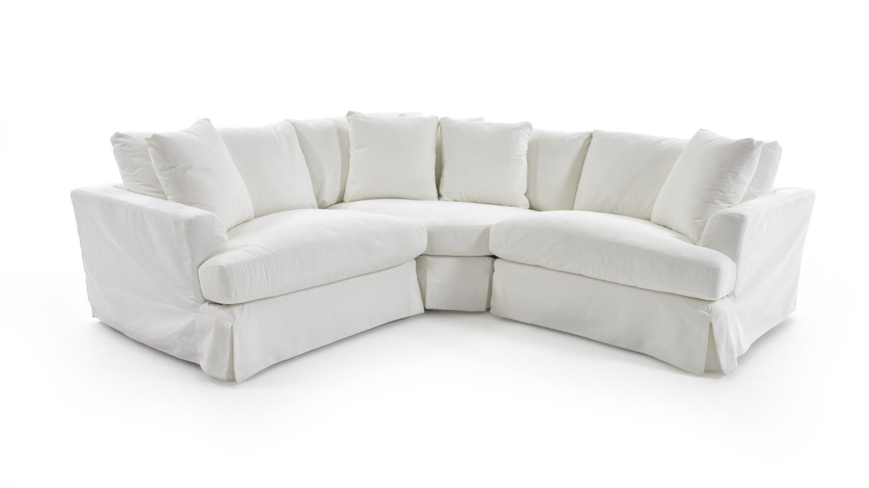 1300 Three Piece Corner Sectional Sofa With Slipcoversynergy With Newmarket Ontario Sectional Sofas (Gallery 9 of 10)